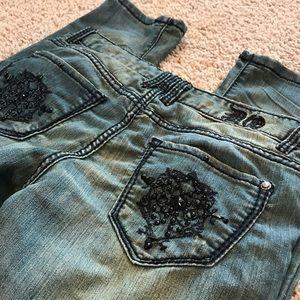 DO Denim Jeans - DO Denim Skinny Distressed Embellished Jeans